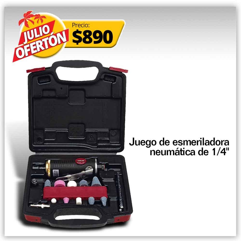 PRODUCTO PROMO JULIO - JUEGO DE ESMERILADORA NEUMATICA