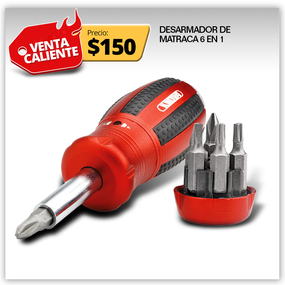 Hot Sale - DESARMADOR MATRACA 8 EN 1