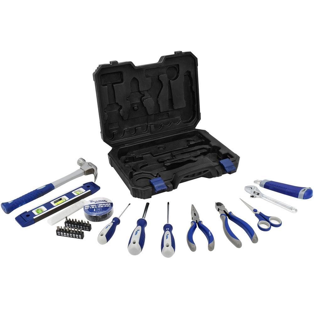 Jgo. de herramientas para el hogar con 31 pzas.
